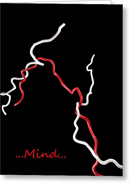 Mind Art Greeting Cards - Mind Greeting Card by Manfred Lutzius