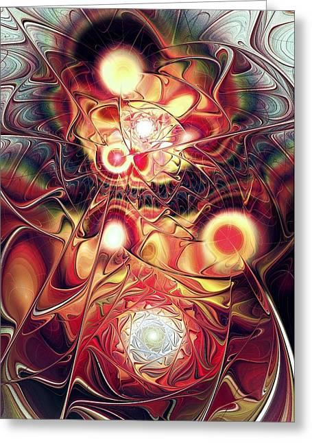 Unity Mixed Media Greeting Cards - Mind Meld Greeting Card by Anastasiya Malakhova