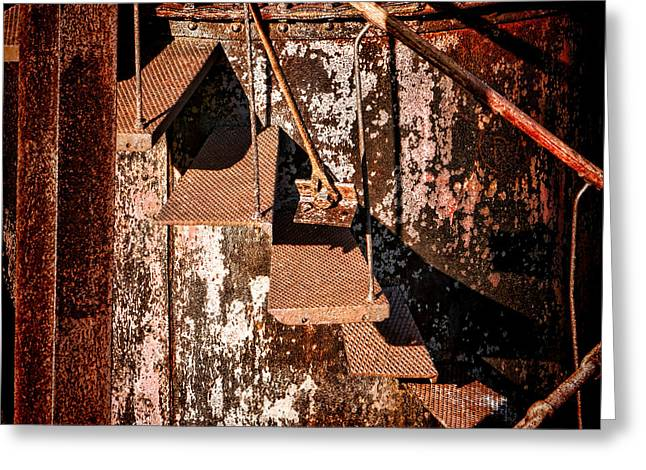 Rusty Greeting Cards - Mind the Gap Greeting Card by Olivier Le Queinec
