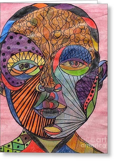 Spectrum Pastels Greeting Cards - Mind Warp Greeting Card by Jeanne Ward