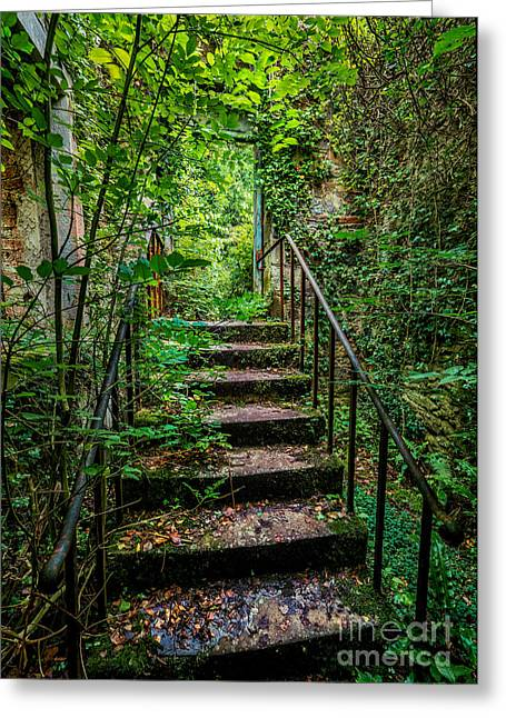 Dilapidated Digital Art Greeting Cards - Mind Your Step Greeting Card by Adrian Evans