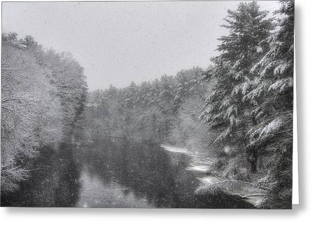 New England Snow Scene Greeting Cards - Mine Falls Park - Nashua New Hampshire Greeting Card by Joann Vitali