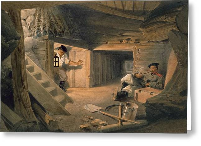 Flagstaff Greeting Cards - Mine Of The Bastion Du Mat, Plate Greeting Card by William