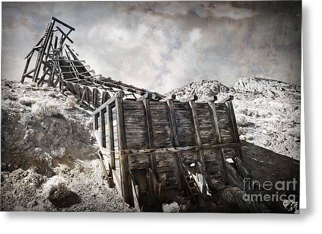 Mine Structure In Silver City Greeting Card by Dianne Phelps