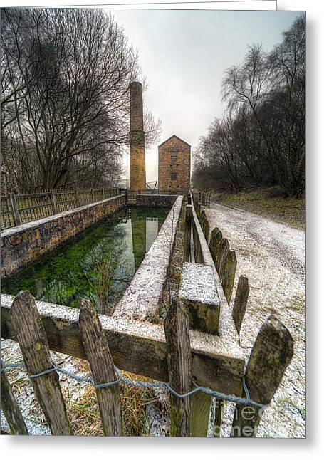 Shafts Greeting Cards - Minera Mines Greeting Card by Adrian Evans