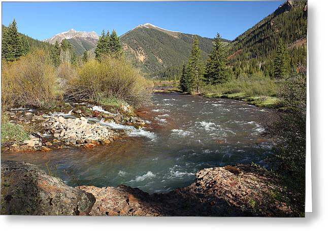 Runoff Greeting Cards - Mineral Creek Greeting Card by Eric Glaser