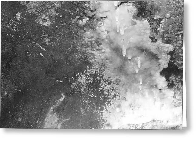Cavern Greeting Cards - Mineral Formation Black And White Greeting Card by Dan Sproul