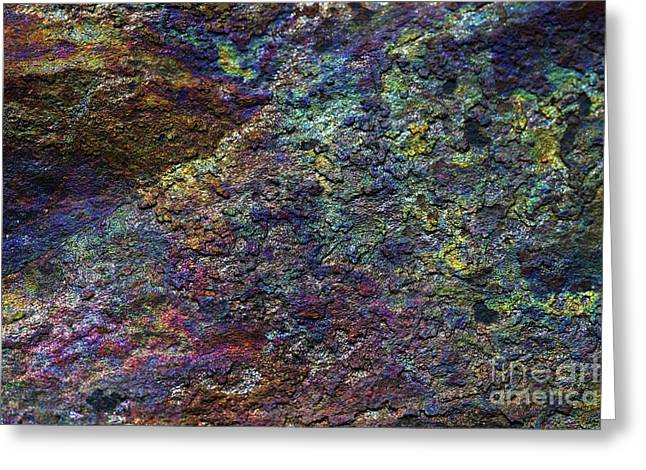 Layers Greeting Cards - Mineral Oxide Layer Greeting Card by Sinclair Stammers