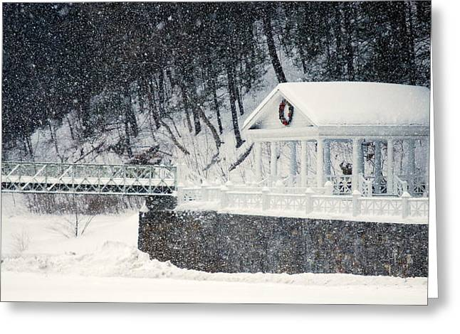 Bedford Hills Greeting Cards - Mineral Spring Pavilion Greeting Card by Mary Beth Landis