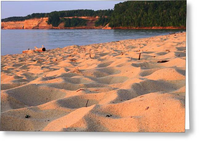 Sand Castles Greeting Cards - Miners Beach At Pictured Rocks National Lakeshore Greeting Card by Dan Sproul