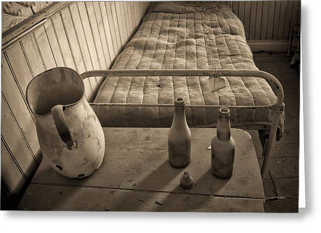 Rush-bed Greeting Cards - Miners Bed Greeting Card by Alan Kepler