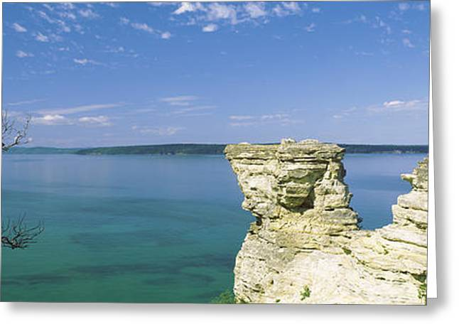 Upper Peninsula Greeting Cards - Miners Castle, Pictured Rocks National Greeting Card by Panoramic Images