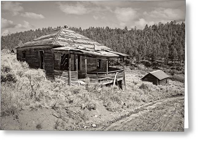 Pioneer Homes Photographs Greeting Cards - Miners Shack - Comet Ghost Mine - Montana Greeting Card by Daniel Hagerman