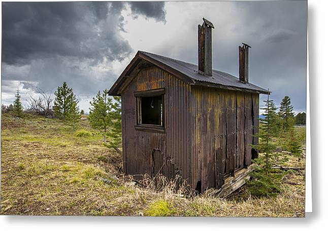 Dwell Greeting Cards - Miners Shack Greeting Card by Fran Riley