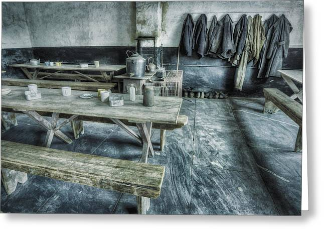 Canteen Greeting Card featuring the photograph Miner's Tearoom by Ian Mitchell