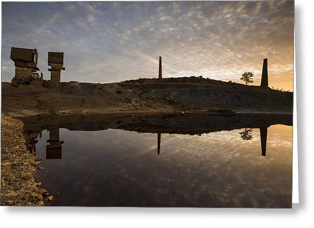 Domingo Greeting Cards - Mines reflection Greeting Card by Ruben Vicente