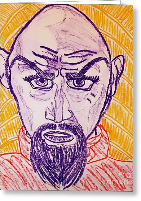 Movie Pastels Greeting Cards - Ming the Merciless Greeting Card by C Alexia