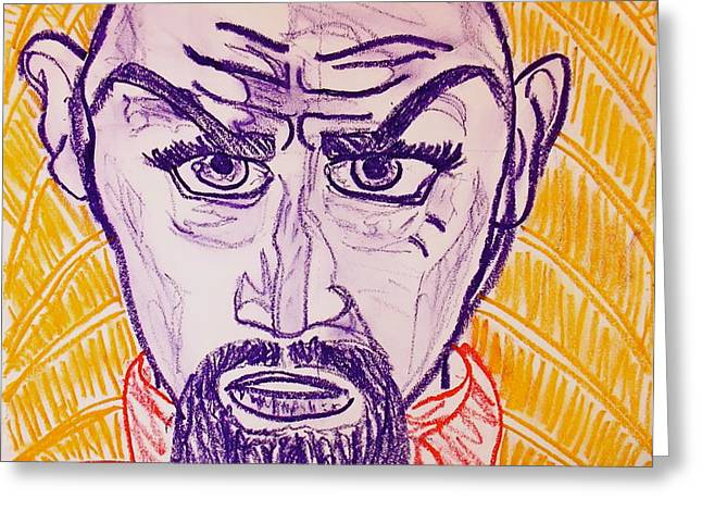 Ming the Merciless Greeting Card by C Alexia