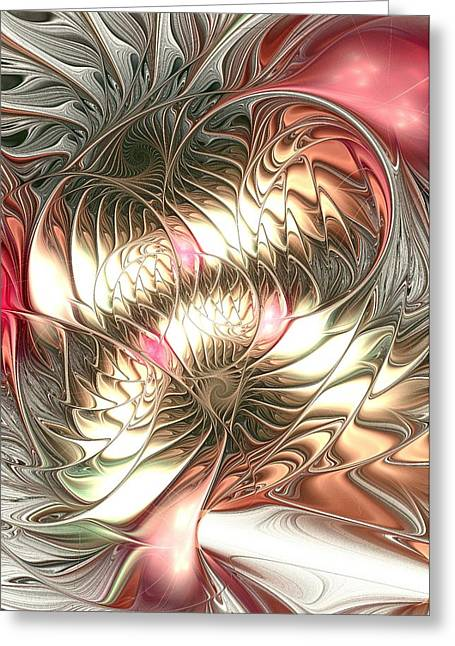 Mingled Greeting Card by Anastasiya Malakhova