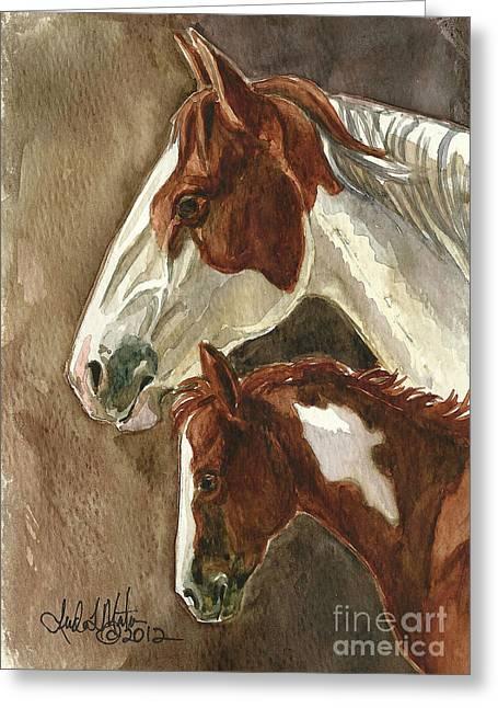 Linda L Martin Artist Greeting Cards - Mingo and Mimi Greeting Card by Linda L Martin