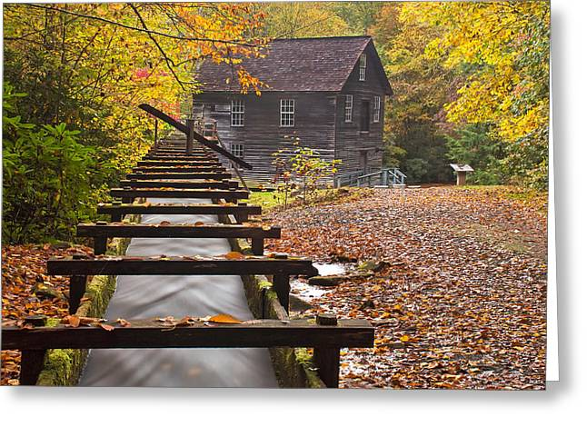 Grist Mill Greeting Cards - Mingus Grist Mill - Autumn Greeting Card by Andy Drinnon