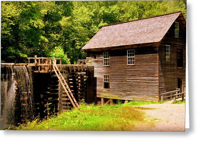 Historical Buildings Greeting Cards - Mingus Mill Greeting Card by Karen Wiles
