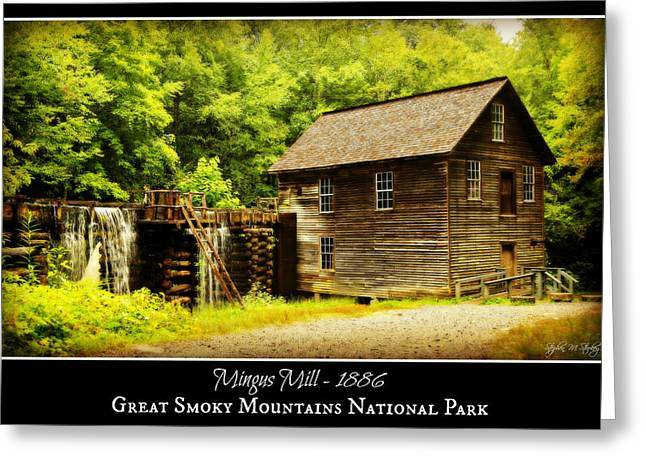 Grist Mill Greeting Cards - Mingus Mill -- Poster Greeting Card by Stephen Stookey