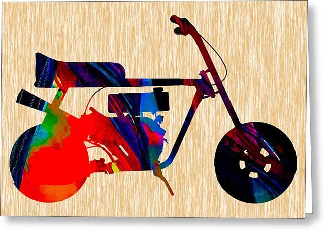 Mini Bike Greeting Cards - Mini Bike Painting. Greeting Card by Marvin Blaine