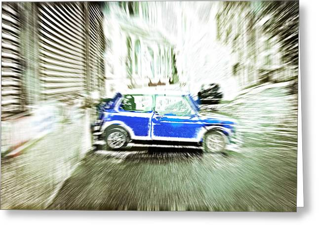 Mini Photographs Greeting Cards - Mini car Greeting Card by Tom Gowanlock