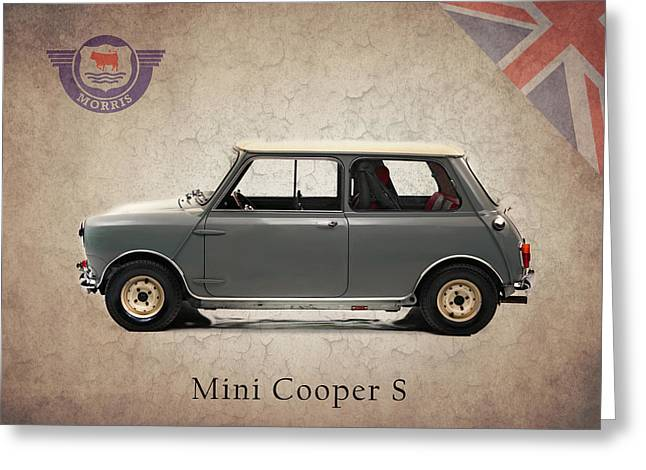 Mini Photographs Greeting Cards - Mini Cooper S 1965 Greeting Card by Mark Rogan