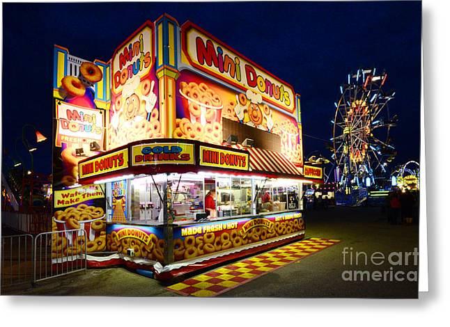 Lethbridge Greeting Cards - Mini Donuts Kiosk Greeting Card by Bob Christopher