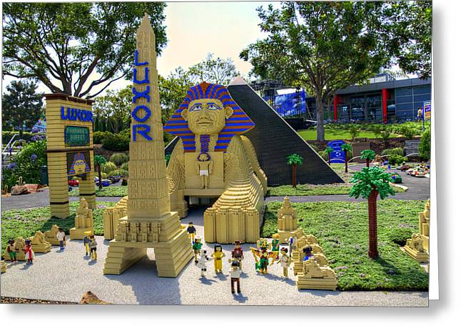 Lego Greeting Cards - Mini Luxor Greeting Card by Ricky Barnard