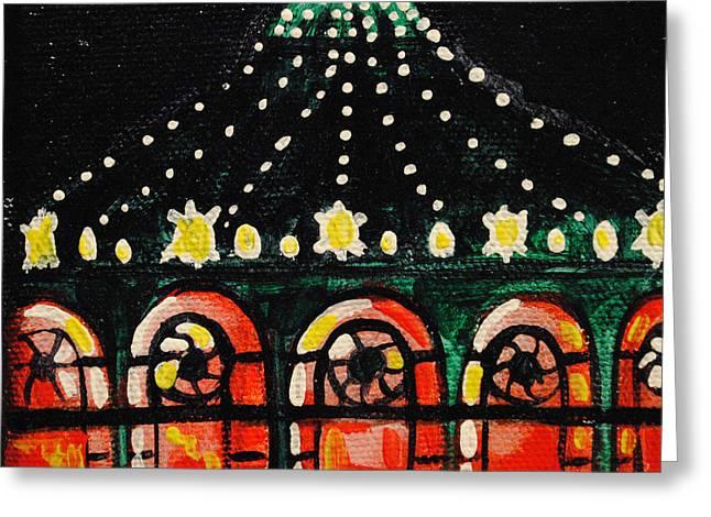 Asbury Park Paintings Greeting Cards - Mini Memory Greeting Card by Patricia Arroyo