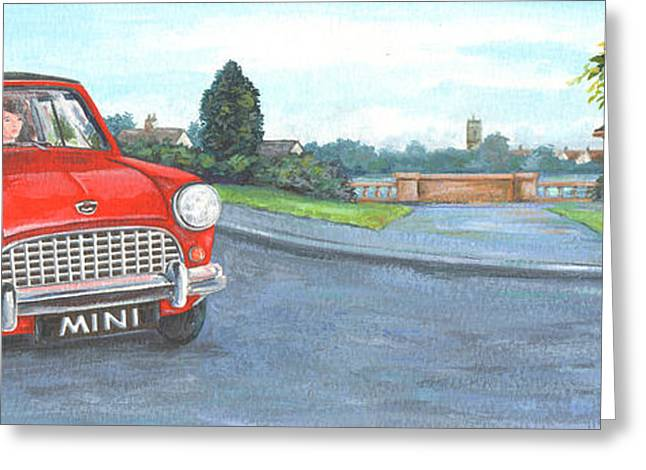 Driving Greeting Cards - Mini Greeting Card by Peter Adderley