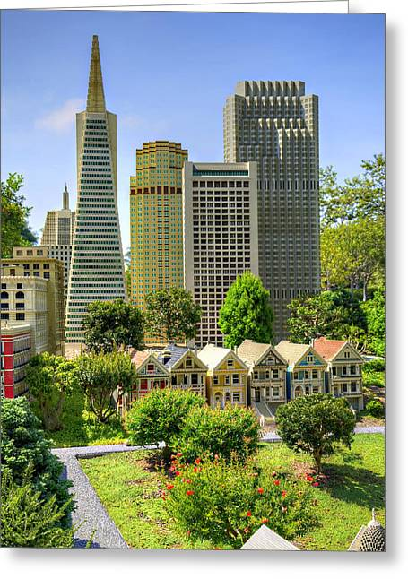 Lego Greeting Cards - Mini San Fran Greeting Card by Ricky Barnard
