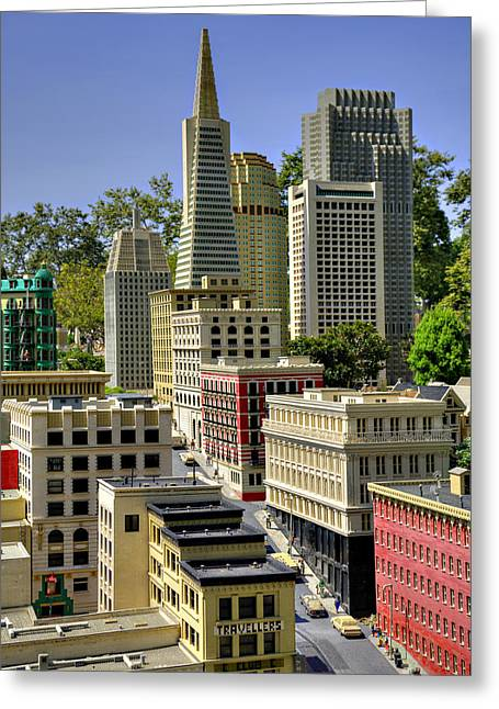 Lego Greeting Cards - Mini San Fransisco Greeting Card by Ricky Barnard