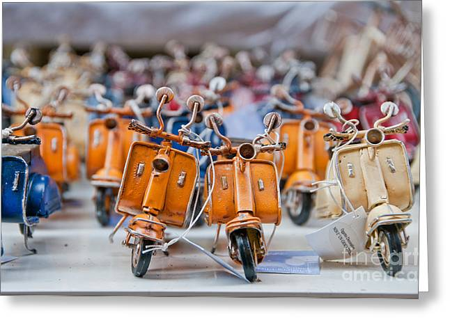 Mini Scooters Greeting Card by Marion Galt