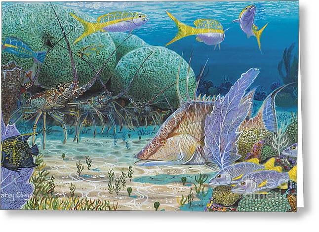 Scuba Diving Paintings Greeting Cards - Mini Season Re0017 Greeting Card by Carey Chen
