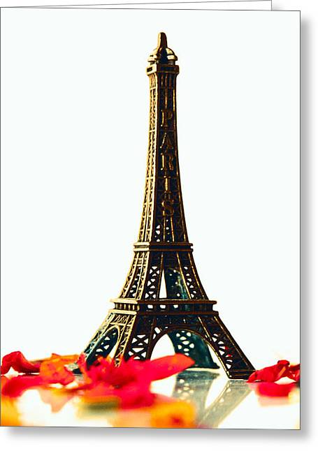 Mini Pyrography Greeting Cards - Mini Tour Eiffel Greeting Card by Louisiana  Photography