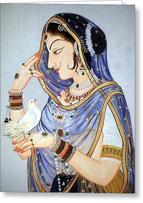 Mayur Sharma Greeting Cards - Miniature Closeup Greeting Card by Mayur Sharma