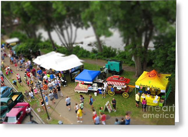 Tilt Shift Greeting Cards - Miniature Concession Stands Greeting Card by Heidi Hermes