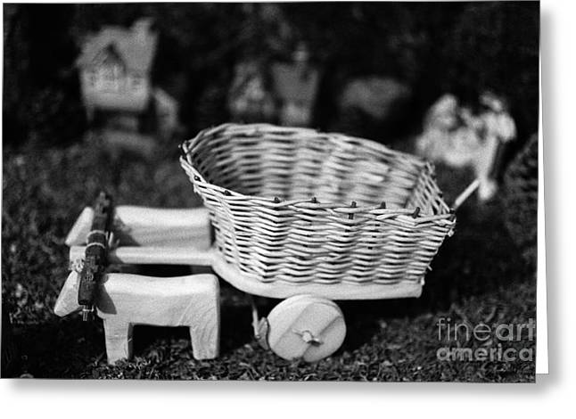 Miniature Oxen-cart Greeting Card by Gaspar Avila