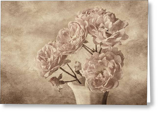 Miniature Photographs Greeting Cards - Miniature Rose Bouquet Greeting Card by Mary Jo Allen