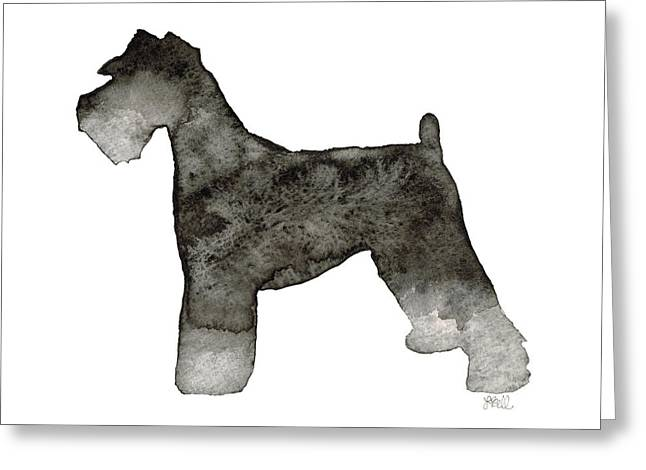 Cute Schnauzer Greeting Cards - Miniature Schnauzer Greeting Card by Laura Bell