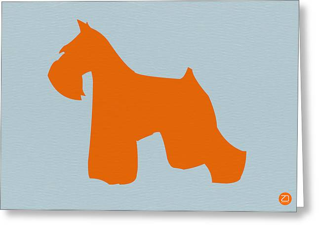 Colorful Art Digital Art Greeting Cards - Miniature Schnauzer Orange Greeting Card by Naxart Studio