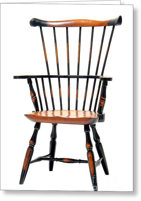 Windsor Chair Greeting Cards - Miniature Windsor Armchair  Greeting Card by Olivier Le Queinec