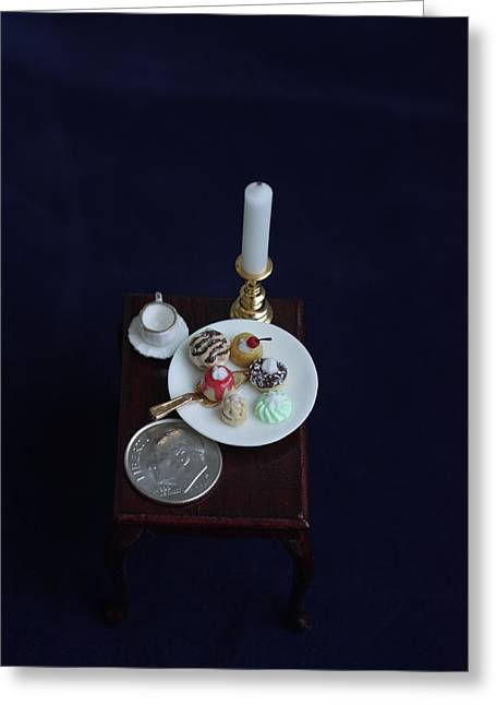 Miniatures O O A K Greeting Card by David Bearden