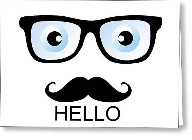 Minimal Hello Greeting Card by Mark Ashkenazi