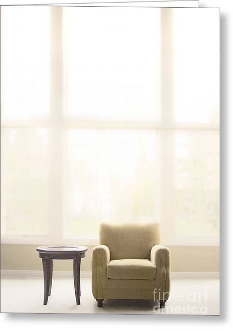 Empty Chairs Greeting Cards - Minimal Greeting Card by Margie Hurwich