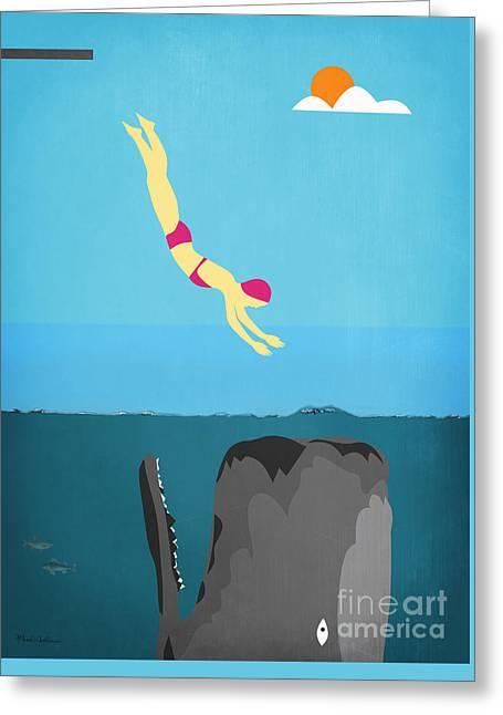 Minimal Sea Life  Greeting Card by Mark Ashkenazi